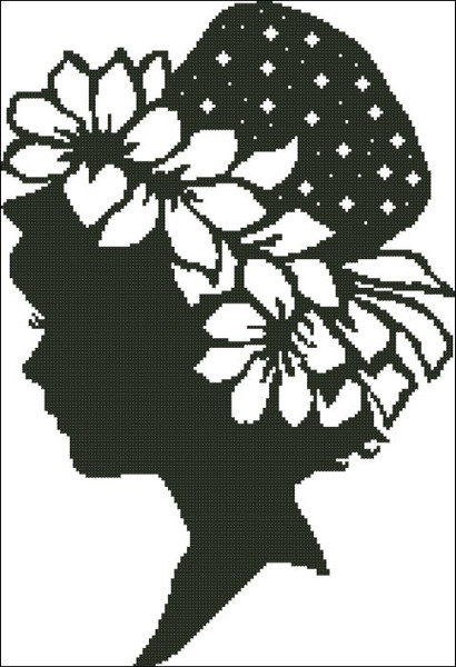 Ladies Hat Silhouette 003