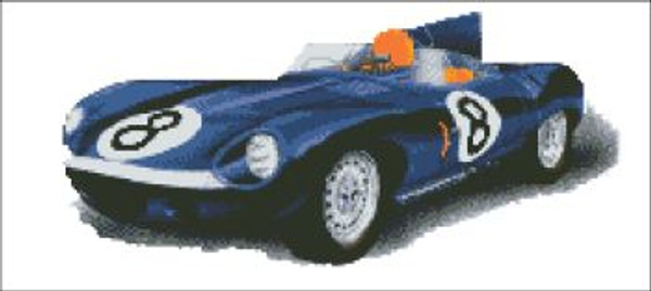 Jaguar 1954 Cross Stitch Pattern