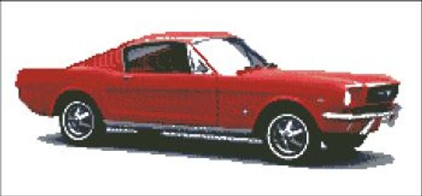Mustang Red Cross Stitch Pattern