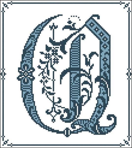 Gothic Alphabet Q