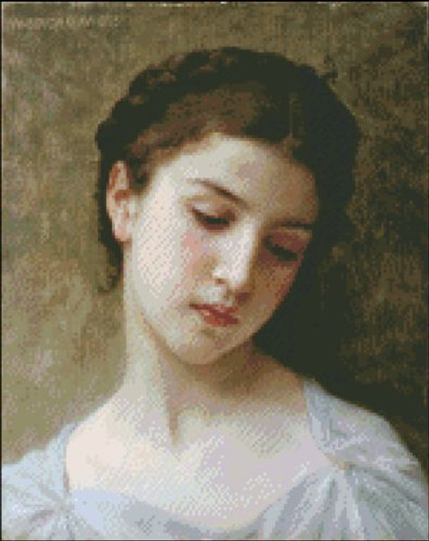 Head of a Young Girl by Bouguereau