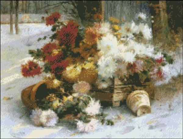 Dahlias by Cauchois