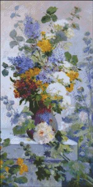Hollyhocks and Summer Flowers