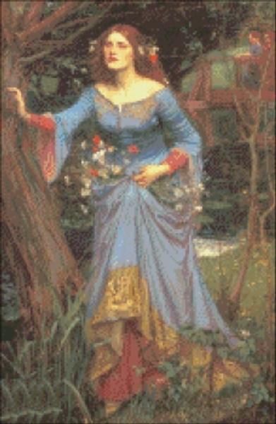 Ophelia in a Blue Dress
