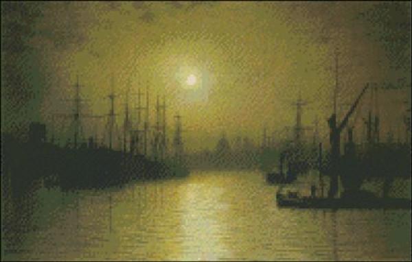 Nightfall at Thames