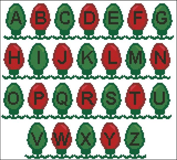 Christmas Lights Alphabet