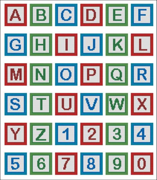 Playing Baby Blocks Alphabet