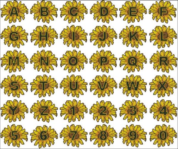 Sunflowers Alphabet