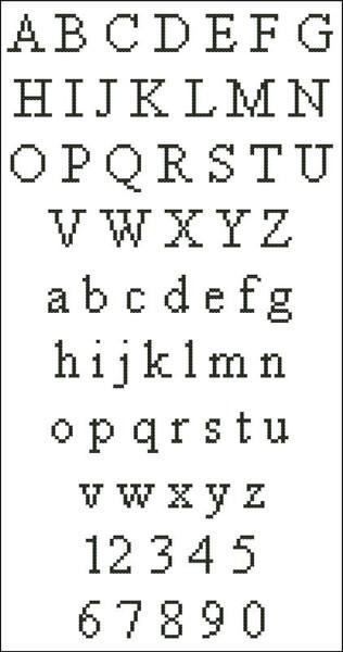 Times New Roman Alphabet