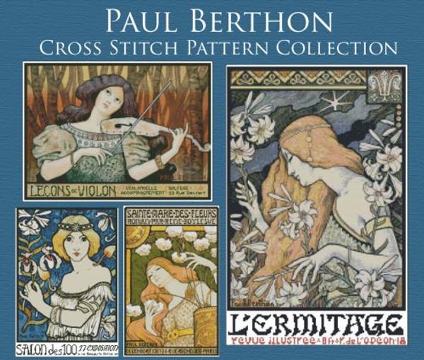 Paul Berthon Cross Stitch Pattern Collection