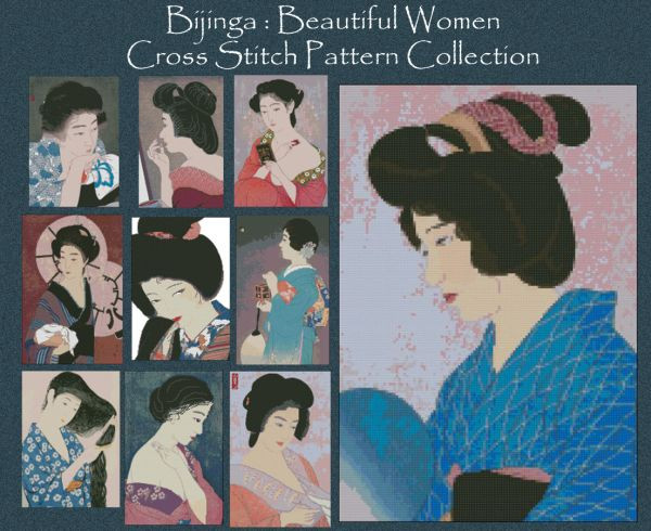 Bijinga Cross Stitch Pattern Collection