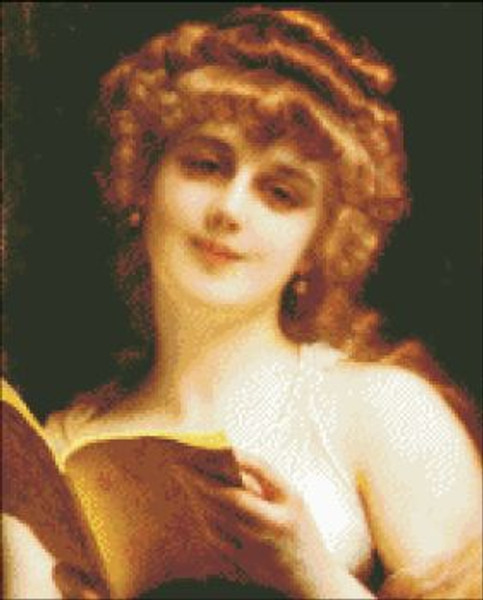 A Blonde Beauty Holding a Book