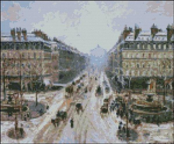 Avenue de Opera Effect of Snow