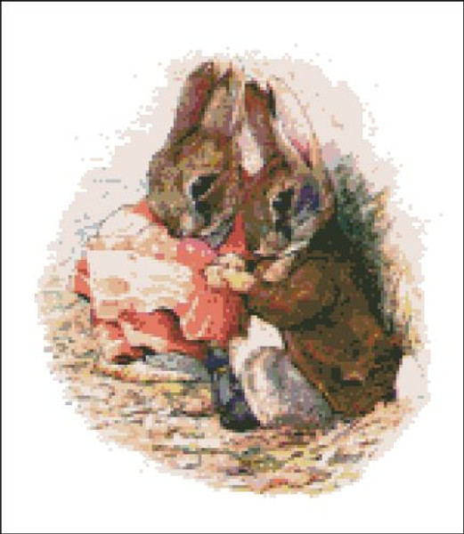 Peter Rabbit in Red Handkerchief with Benjamin
