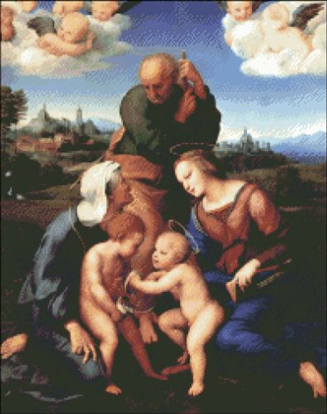 Holy Family with Elizabeth and John