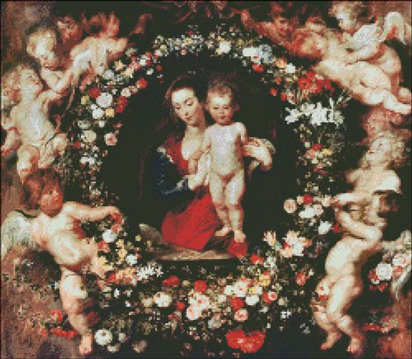 Virgin with a Garland of Flowers