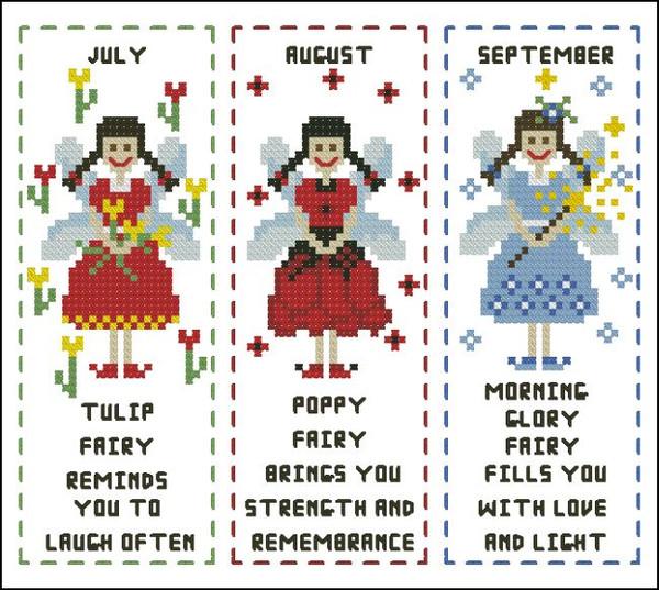 Flower Fairy Bookmark July to September