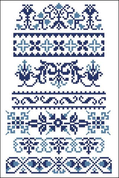 Border Motifs 001 (Geometric & Floral)