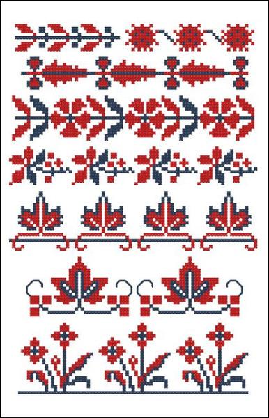 Border Motifs 004 (Floral & Leaves)