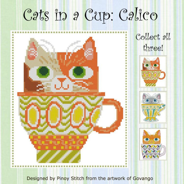 Cats in a Cup Calico