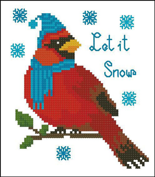 Cardinal Let It Snow