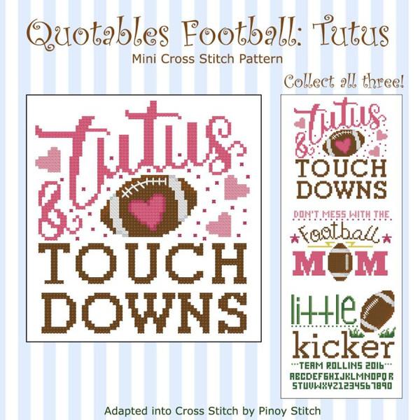 Quotables Football Tutus