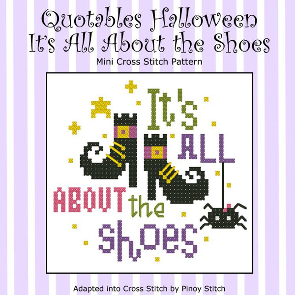Quotables Halloween It's All About the Shoes