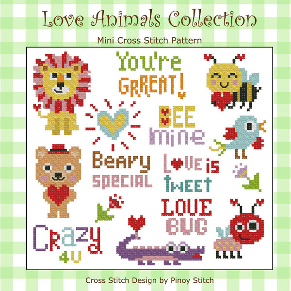 Love Animals Cross Stitch Collection