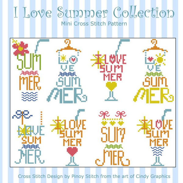I Love Summer Cross Stitch Collection