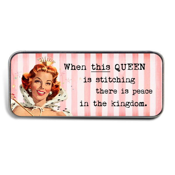 Magnetic Sewing Needle Case Retro When This Queen is Happy there is Peace in the Kingdom