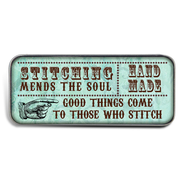 Magnetic Sewing Needle Case Quotes Good Things Come to Those Who Stitch
