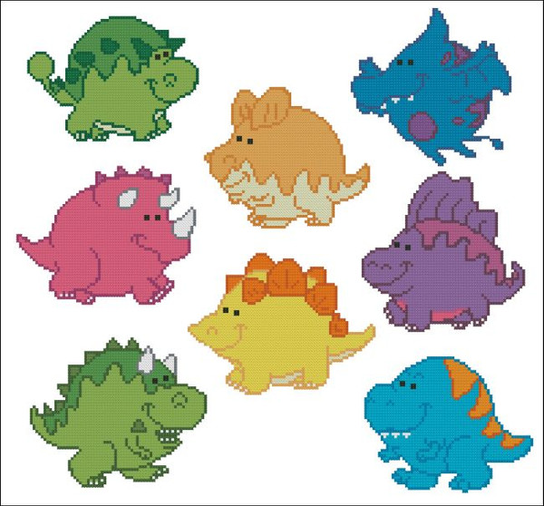 Chubby Dinosaurs Mini Collection