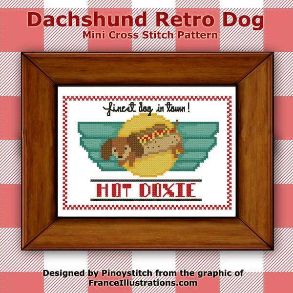 Dachshund Retro Dog