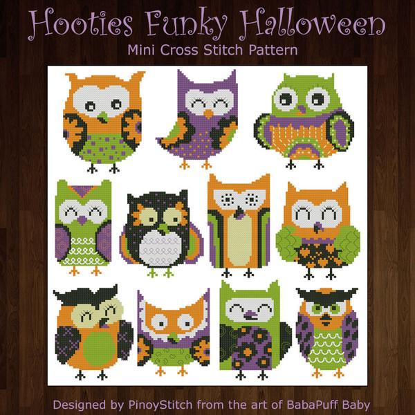 Hooties Funky Owls Halloween