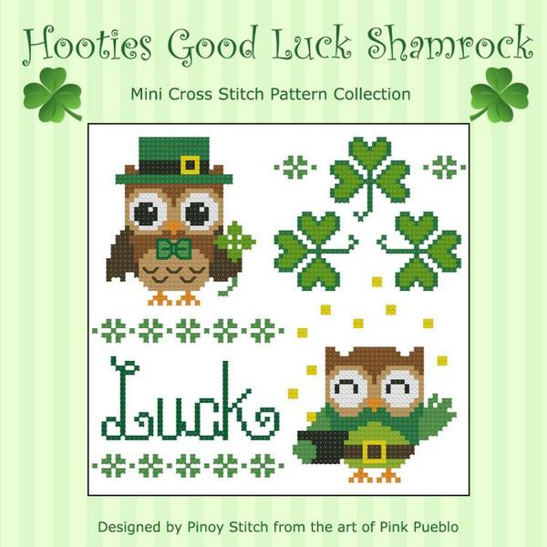Hooties Good Luck Shamrock