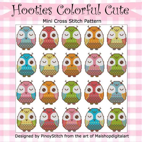 Hooties Colorful Cute Owls