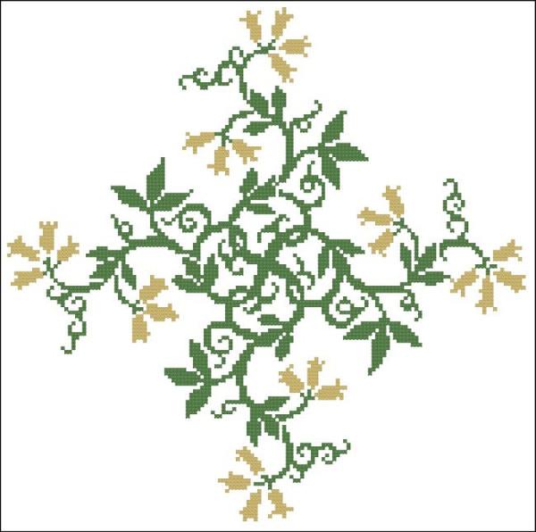 Floral Ornamental #020 Golden Bells