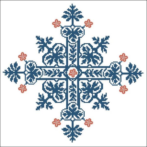 Floral Ornamental #026 Blue Gothic