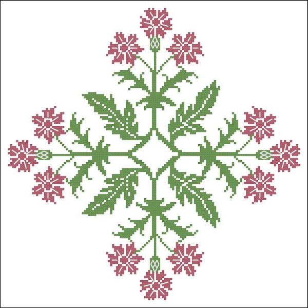 Floral Ornamental #030 Pink Carnation