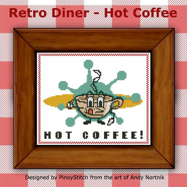 Retro Diner Food - Hot Coffee