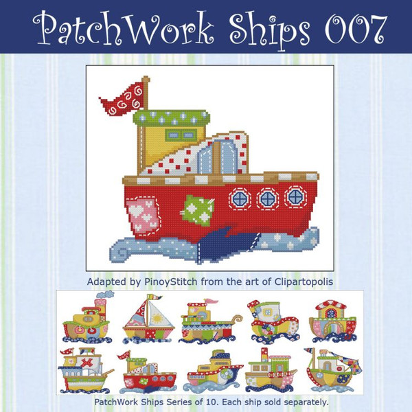 Patchwork Ships 007