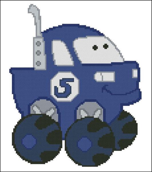 Chubby Race Cars 003 Blue Monster
