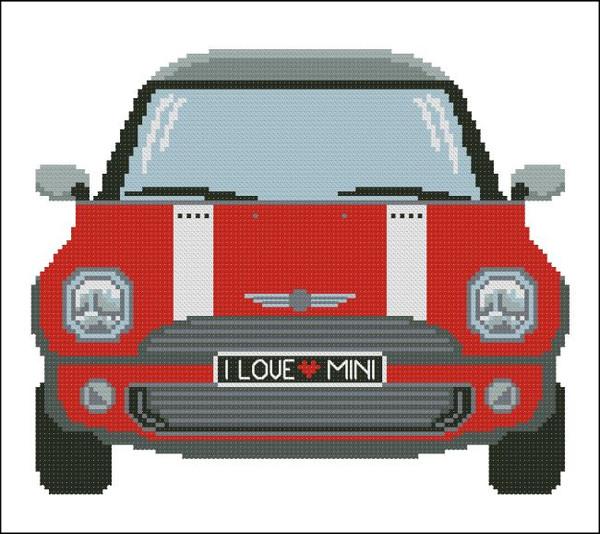 Mini Sports Car  Red