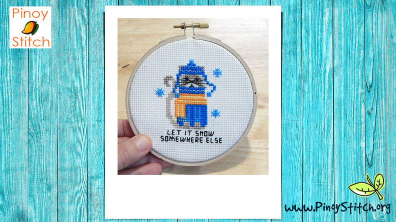 How to Finish Cross Stitch Projects in a Hoop