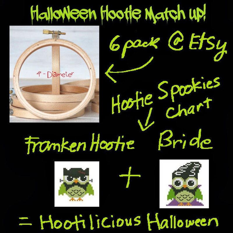 Halloween Hootie Matchup Cross Stitch Pattern