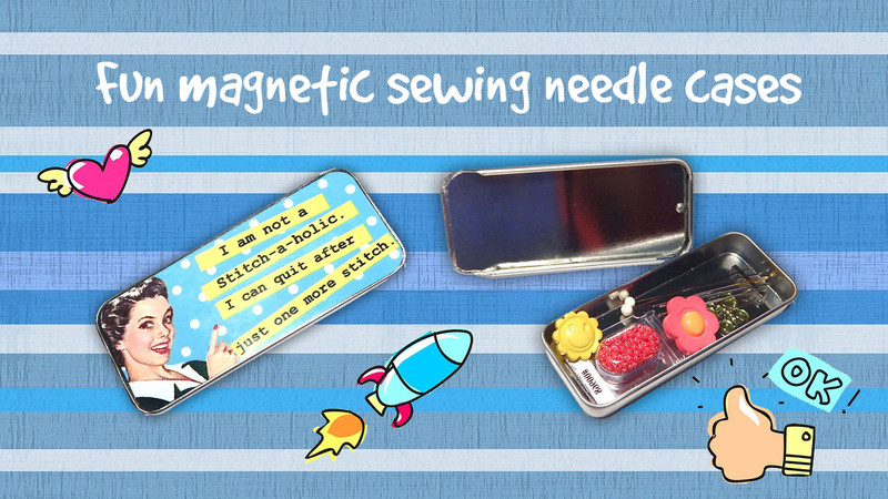 Fun Magnetic Sewing Needle Cases Get to the Point