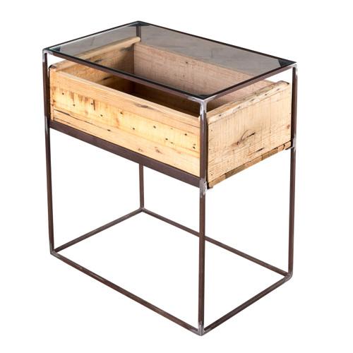 Landon Wood Box Side Table