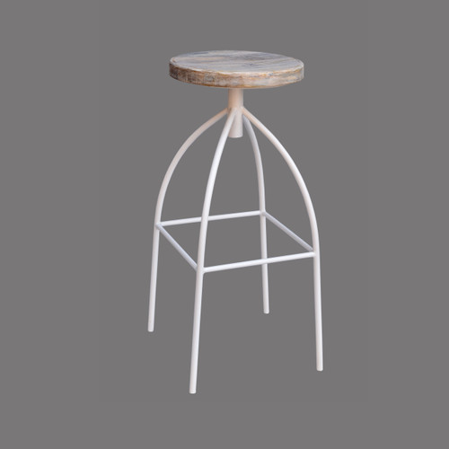 Branson Bar Stool - White