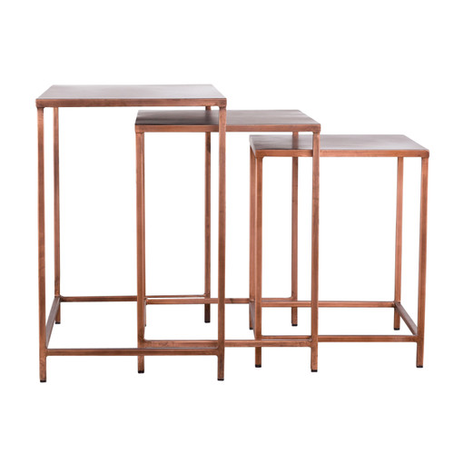 Pollock Nesting Tables - Copper (Set of 3)