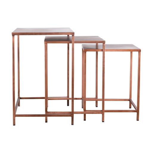 Pollock Nesting Tables - Copper (Set of 3)